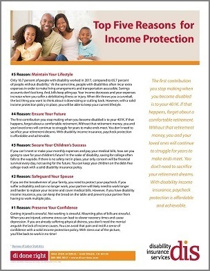 """Seven Ways to Use the """"Five Reasons for Income Protection"""" Handout to Promote Paycheck Protection"""